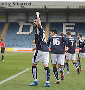 Dundee&rsquo;s Kane Hemmings celebrates after scoring his side's second goal - Dundee v Ross County - Ladbrokes Premiership at Dens Park<br /> <br />  - &copy; David Young - www.davidyoungphoto.co.uk - email: davidyoungphoto@gmail.com