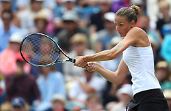 Karolina Pliskova of Czech Republic in action during the final of the Aegon International Eastbourne tennis tournament - Mandatory by-line: Paul Terry/JMP - 25/06/2016 - TENNIS - Devonshire Park - Eastbourne, United Kingdom - Dominika Cibulkova v Karolina Pliskova - Aegon International Eastbourne