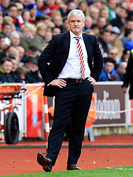 Stoke City Manager Mark Hughes looks disappointed - Mandatory by-line: Matt McNulty/JMP - 02/04/2016 - FOOTBALL - Britannia Stadium - Stoke-on-Trent, England - Stoke City v Swansea City - Barclays Premier League