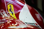 April 17, 2014 - Shanghai, China. UBS Chinese Formula One Grand Prix. Ferrari engine cover