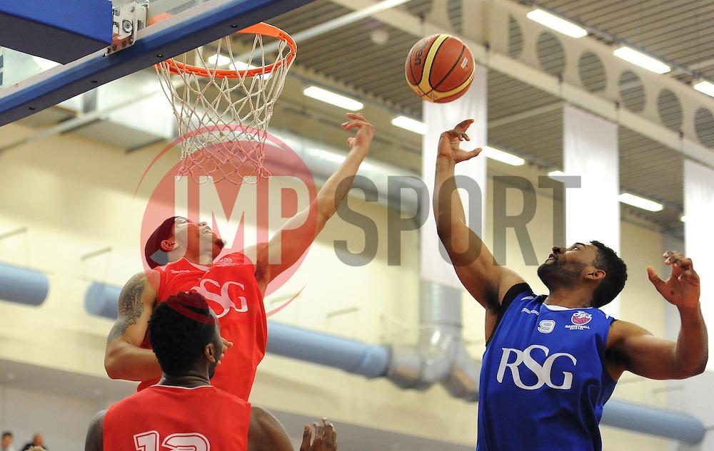 Bristol Flyers Greg Streete and Jordan Ranklin - Photo mandatory by-line: Dougie Allward/JMP - Mobile: 07966 386802 - 23/05/2015 - SPORT - Basketball - Bristol - SGS Wise Campus - Bristol Flyers v  - Bristol Flyers All-Star Game