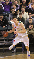 Vlado Ilievski at basketball match of 6th Round of Group C in Euroleague between KK Union Olimpija and DKV Joventut, on December 4, 2008 in Arena Tivoli, Ljubljana, Slovenia. Union Olimpija : DKV Joventut 65:86. (Photo by Vid Ponikvar / Sportida)