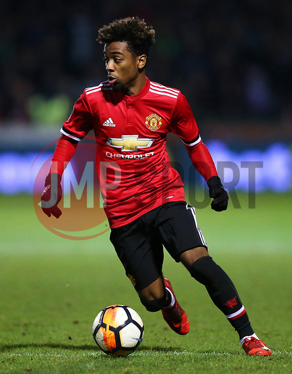 Angel Gomes of Manchester United - Rogan/JMP - 26/01/2018 - FOOTBALL - Huish Park - Yeovil, England - Yeovil Town v Manchester United - FA Cup Fourth Round.