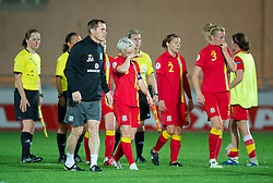 LLANELLI, WALES - Saturday, September 15, 2012: Wales' manager Jarmo Matikainen looks dejected after his side's 2-1 defeat to Scotland during the UEFA Women's Euro 2013 Qualifying Group 4 match at Parc y Scarlets. (Pic by David Rawcliffe/Propaganda)