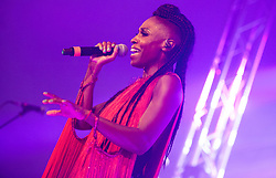 Skye Edwards of Morcheeba performs on stage on day 1 of Standon Calling Festival on July 27, 2018 in Standon, England. Picture date: Friday 27 July, 2018. Photo credit: Katja Ogrin/ EMPICS Entertainment.