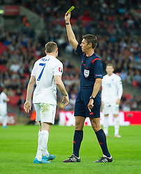 James Milner of England (Liverpool) gets booked by Referee Gianluca Rocchi - Mandatory byline: Alex James/JMP - 07966386802 - 08/09/2015 - FOOTBALL - INTERNATIONAL - Wembley Stadium - London - England v Switzerland - European Championship 2016 Qualifiers - Group E
