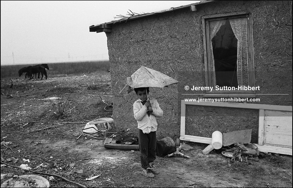 THE STANESCU HOUSEHOLD. SINTESTI. ROMANIA. NOVEMBER 1996..©JEREMY SUTTON-HIBBERT 2000..TEL. /FAX.+44-141-649-2912..TEL. +44-7831-138817.