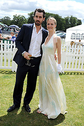 LOUIS & CHLOE BUCKWORTH at the 2008 Veuve Clicquot Gold Cup polo final at Cowdray Park Polo Club, Midhurst, West Sussex on 20th July 2008.<br /> <br /> NON EXCLUSIVE - WORLD RIGHTS