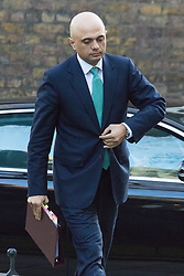 Downing Street, London, February 23rd 2016. Business Secretary Sajid Javid arrives at the weekly cabinet meeting.  &copy;Paul Davey<br /> FOR LICENCING CONTACT: Paul Davey +44 (0) 7966 016 296 paul@pauldaveycreative.co.uk
