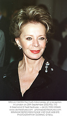 MRS LILY SAFRA the multi-millionairess, at a reception in London on 25th September 2002.PDL 110