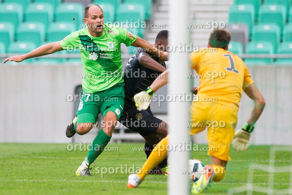 Aris Zarifovic #27 of NK Olimpija Ljubljana during International friendly football match between NK Olimpija Ljubljana (SLO) and Celtic FC (SCO), on July 6, 2016 in SRC Stozice, Ljubljana, Slovenia. Photo by Urban Urbanc / Sportida