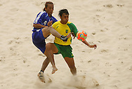 Football-FIFA Beach Soccer World Cup 2006 - Group A- Brazil - Japan, Beachsoccer World Cup 2006. Brasilian's Bruno and Japan's Makino - Rio de Janeiro - Brazil 05/11/2006. Mandatory credit: FIFA/ Manuel Queimadelos