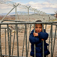 Refugees  the Greece-Macedonian border