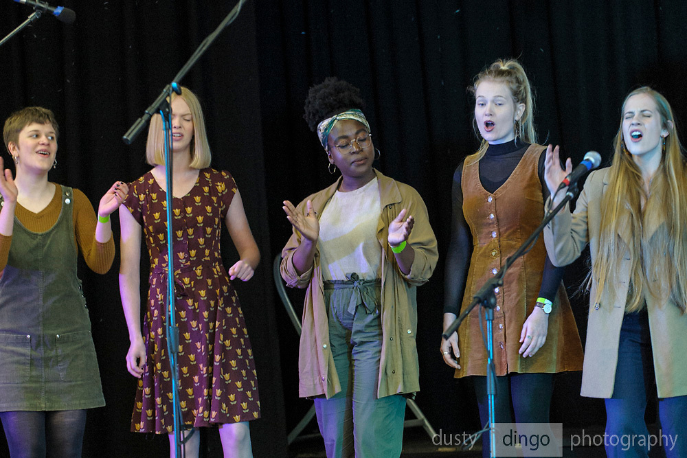 """""""Darling"""" opening the 2018 Guildford Songfest, on stage at the Guildford Town Hall."""