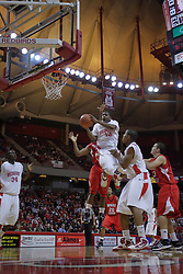 28 November 2009: Austin Hill floats through the air in the middle of the lane for a shot. The Redhawks of SouthEast Missouri State fall the Redbirds of Illinois State 93-53 on Doug Collins Court inside Redbird Arena in Normal Illinois.