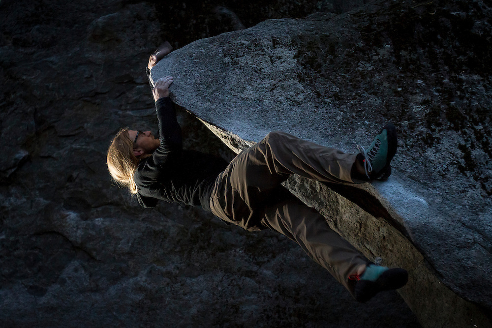Aaron Livingston on a traverse problem.<br />