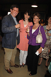 Left to right, BRUCE PALLING, GEORGIA COLERIDGE and SALLY GAMINARA at a party to celebrate the publication of 'The Scent Trail' by Celia Lyttelton held at the London Studio of Paul Benney, 760 Harrow Road, London NW10 on 10th July 2007.<br /><br />NON EXCLUSIVE - WORLD RIGHTS