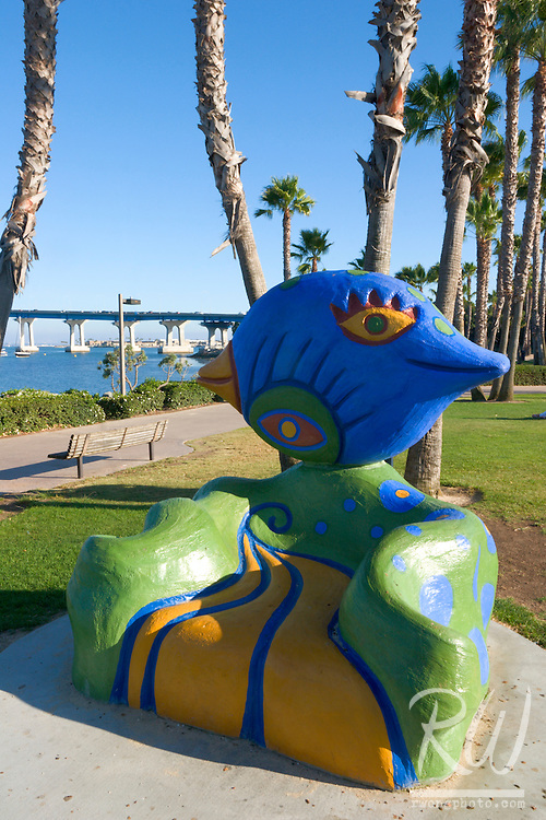 Tidelands Park Colorful Bench Public Artwork, Coronado Island, California
