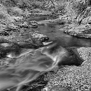 Sweet Creek Cascade Falls - Mapleton, Oregon - HDR - Infrared Black & White