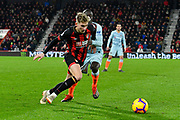 David Brooks (20) of AFC Bournemouth battles for possession with Ngolo Kante (7) of Chelsea during the Premier League match between Bournemouth and Chelsea at the Vitality Stadium, Bournemouth, England on 30 January 2019.