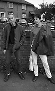 Skinhead and friend, High Wycombe, UK. 1980s.