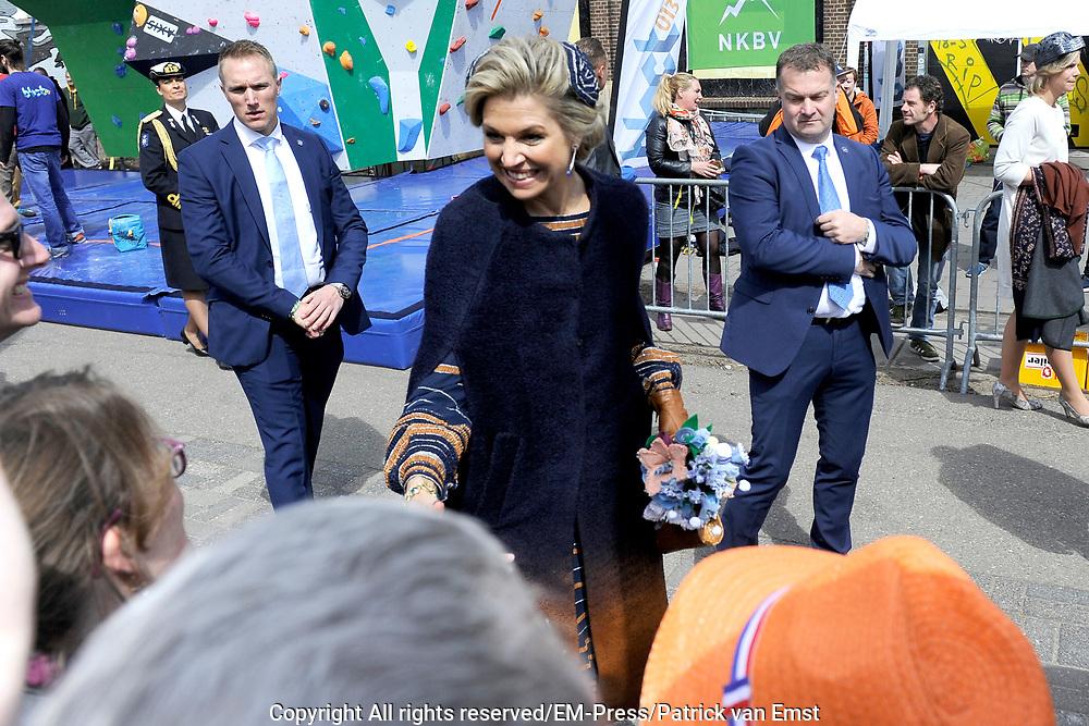 Koningsdag 2017 in Tilburg / Kingsday 2017 in Tilburg<br /> <br /> Op de foto / On the photo:  Koningin Maxima / Queen Maxima