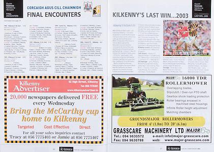 All Ireland Senior Hurling Championship Final,.03.09.2006, 09.03.2006, 3rd September 2006,.Senior Kilkenny 1-16, Cork 1-13,.Minor Tipperary 2-18, Galway 2-7.3092006AISHCF,.Kilkenny Advertiser,