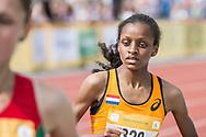 EYOF2013 Utrecht, finale 3000m hardlopen meisjes (L-R) Ashley Melchers