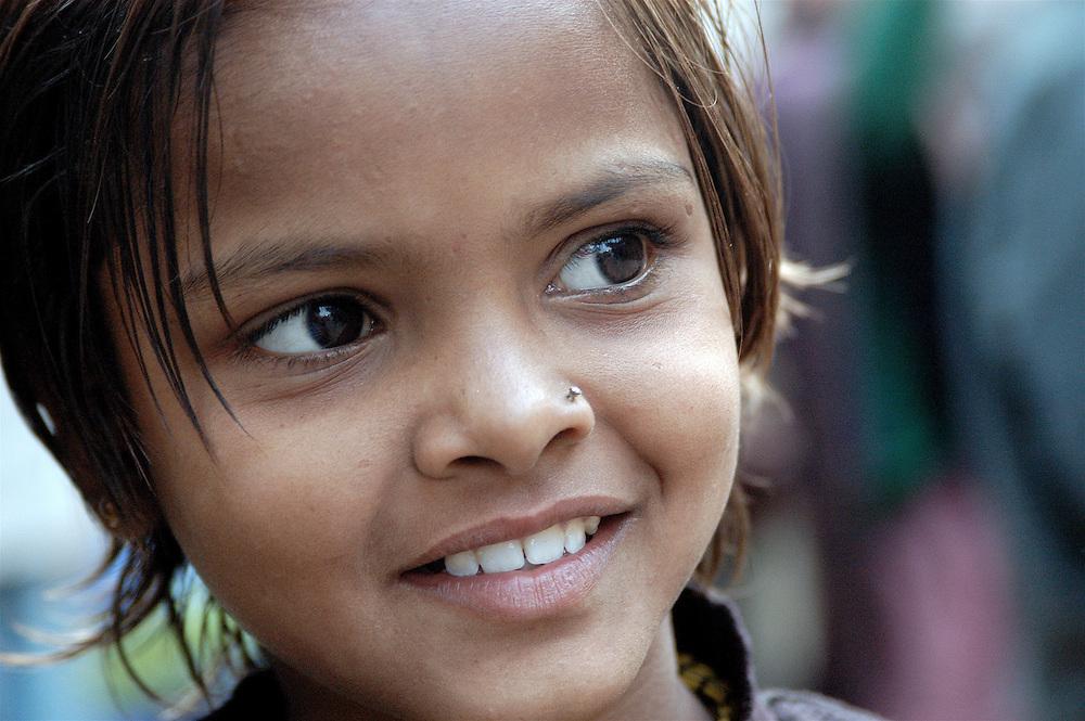A young girl in Varanasi, India