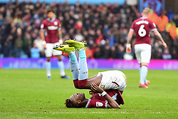 March 16, 2019 - Birmingham, England, United Kingdom - Tammy Abraham (18) of Aston Villa rolls on his back after taking a shot at goal during the Sky Bet Championship match between Aston Villa and Middlesbrough at Villa Park, Birmingham on Saturday 16th March 2019. (Credit Image: © Mi News/NurPhoto via ZUMA Press)