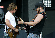 Brantley Gilbert performs at the 31st annual Country Concert in Fort Loramie, Ohio, Thursday, July 7, 2011.