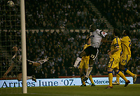 Photo: Steve Bond.<br />Derby County v Southampton. Coca Cola Championship. Play Off Semi Final, 2nd Leg. 15/05/2007. Darren Moore (C) sees his header go over the bar