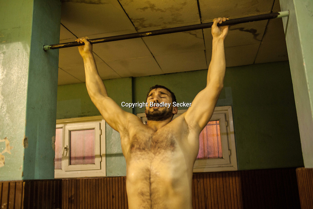 Semih Sancar, who turned to oil wrestling three years ago after six years as a hobbyist rower. He won his first match this year at the Kırkpınar championship close to Edirne, Turkey.