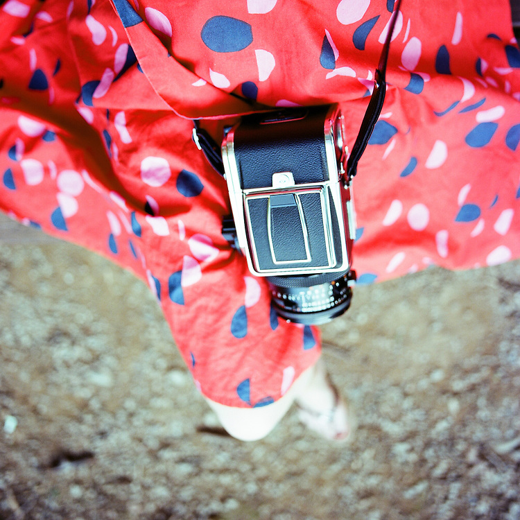 Hasselblad and Red Dress.
