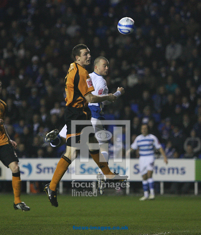 Reading - Tuesday January 27th, 2009: Wolverhampton Wanderers Neill Collins scores an own goal against Reading during the Coca Cola Championship match at The Madjeski Stadium, Reading. (Pic by Chris Ratcliffe/Focus Images)