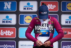 Marta Bastianelli (ITA) retains the lead in the UCI Women's WorldTour at Gent Wevelgem - Elite Women 2019, a 136.9 km road race from Ieper to Wevelgem, Belgium on March 31, 2019. Photo by Sean Robinson/velofocus.com
