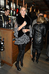 ASSIA WEBSTER at the launch of Korean restaurant Jinjuu with chef Judy Joo at 15 Kingley Street, London on 22nd January 2015.