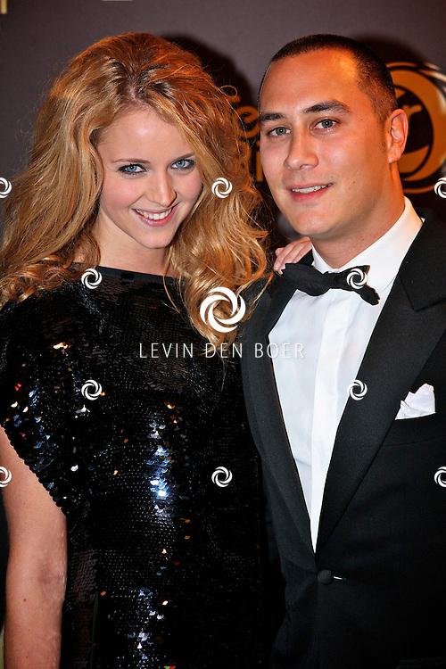 AMSTERDAM - In theater Carre is de Gouden Televizier Ring gala weer geweest.  Met op de foto Liza Sips met partner Joel Davans. FOTO LEVIN DEN BOER - PERSFOTO.NU