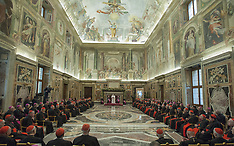 Pope Francis Christmas Greetings To The Curia - 21 Dec 2017
