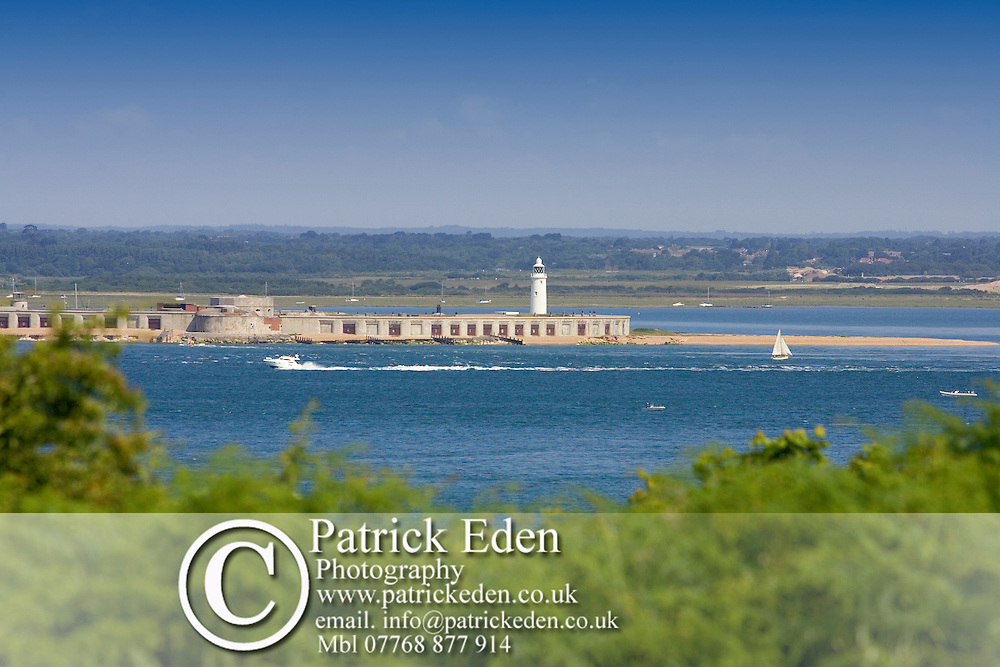Hurst Castle Light house, Totland bay, Solent, Photographs of the Isle of Wight by photographer Patrick Eden photography photograph canvas canvases