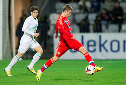 Dmitry Efremov of Russia during football match between U21 National Teams of Slovenia and Russia in 6th Round of U21 Euro 2015 Qualifications on November 15, 2013 in Stadium Bonifika, Koper, Slovenia. Russia defeated Slovenia 1-0. Photo by Vid Ponikvar / Sportida