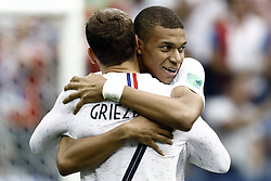 July 6, 2018 - Nizhny Novgorod, Russia - Kylian Mbappe, Antoine Griezmann during 2018 FIFA World Cup Russia Quarter Final match between Uruguay and France at Nizhny Novgorod Stadium on July 6, 2018 in Nizhny Novgorod, Russia. (Credit Image: © Mehdi Taamallah/NurPhoto via ZUMA Press)