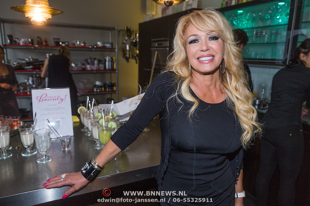 NLD/Amsterdam/20130621 - Boekpresentatie Happy Go Beauty van Tom Sebastian, Patricia Paay