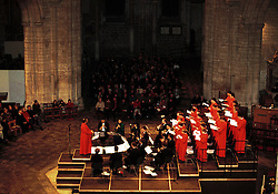 Ely Cathedral, Cambridgeshire ..10th anniversary carol concert by the Ely Cathedral choir in aid of the East Anglia's Children Hospices, December 21, 1999. Photo by Andrew Parsons / i-images..