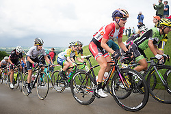 Amalie Dideriksen (DEN) of Boels-Dolmans Cycling Team ride up the first QOM climb during the Aviva Women's Tour 2016 - Stage 2. A 140.8 km road race from Atherstone to Stratford upon Avon, UK on June 16th 2016.