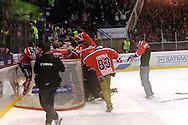 24.4.2013, Isometsän jäähalli, Pori..Jääkiekon SM-liiga 2012-13. Playoffsit, 6. loppuottelu, Ässät - Tappara.Ässät juhlii mestaruutta loppusummerin jälkeen.