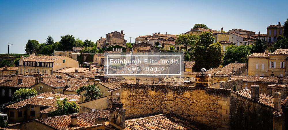 Looking a cross the rooftops in Saint Emilion, France<br /> <br /> (c) Andrew Wilson   Edinburgh Elite media