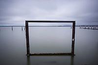 Abandoned Metal Structure at Alameda Point, Alameda, California