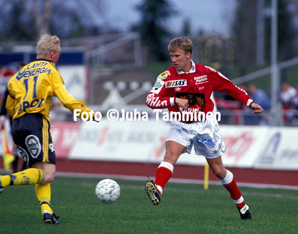 07.05.1995, Pori..Veikkausliiga, FC Jazz v FC Kuusysi.Vesa Rantanen - FC Jazz.©JUHA TAMMINEN