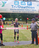 Monroe, New York - Dominic Tocco of Waterford won the dualthlon in the third annual Southern Orange Family YMCA Tri/Duathlon & Run/Walk on Aug. 2, 2014.